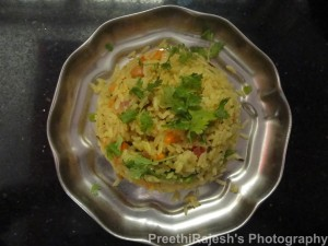 Avalakki Vegetable chitranna